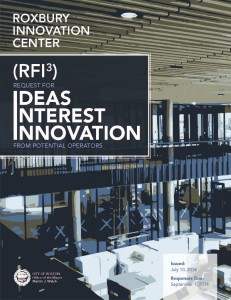 Roxbury Innovation Center RFI 7-9-2014 FINAL COVER